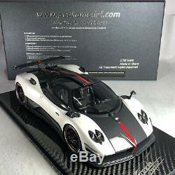 1/18 Peako Model Pagani Zonda Cinque White with Carbon Base Special Edition