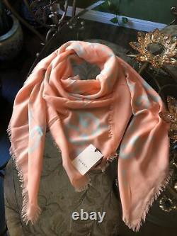 100% Authentic GUCCI Large GG Ghost Silk Scarf Limited Edition