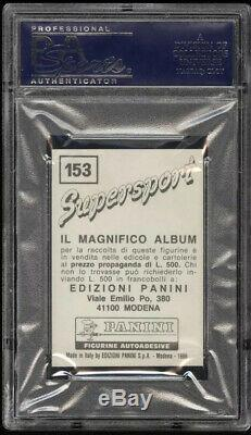1986 Panini Supersport Mike Tyson Boxing Rookie RC #153 ITALIAN VERSION PSA 10