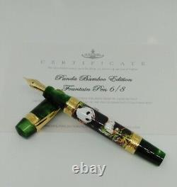 Ancora Panda Bamboo Limited Edition 18K Gold Fountain pen number 6 from 8