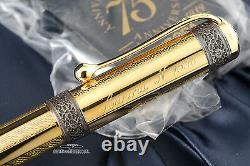 Aurora 75th Anniversary Limited Edition Vermeil Fountain Pen Medium Nib