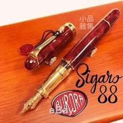 Aurora 88 Limited Edition 688 Sigaro Amber Gold Trim Fountain Pen