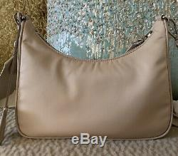 Authentic Brand New Prada Re-edition 2005 Beige Logo Cross Body Bag Sold Out