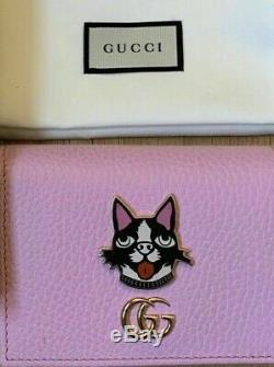 Authentic Gucci New Limited Edition Bosco Small Pink Wallet