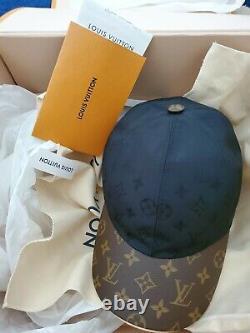 Authentic New Hat Cap Limited Edition Black Brown Monogram Size Medm, Adjustable
