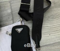 Authentic PRADA Re-Edition 2005 Shoulder Bag in Black (Tessuto + Saffiano)
