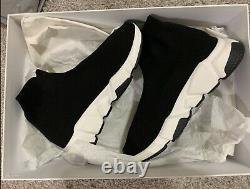 BNIB Balenciaga Black Speed Trainers Sneakers Shoes size 6US Limited Edition