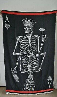 BNWT Alexander McQueen Skeleton Wool Shawl Scarf, RRP £625, Limited Edition