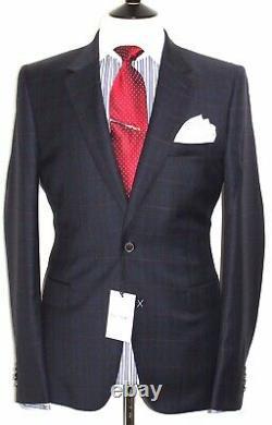Bnwt Mens Paul Smith The Mainline New Edition Slim Fit Navy Tartan Suit42r W36