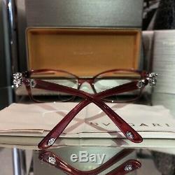 Bvlgari Eyeglasses Swarovski Crystal Limited Edition 4058-B Ruby SOLD OUT! RARE