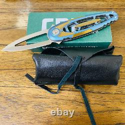 CRKT Hirin 5042 3.39 M390 6AL4V Titanium Handles Knife Limited Edition