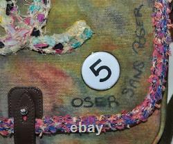 Chanel 2015 Limited Edition Toile Graffiti On The Pavements CC Messenger Bag, Nib