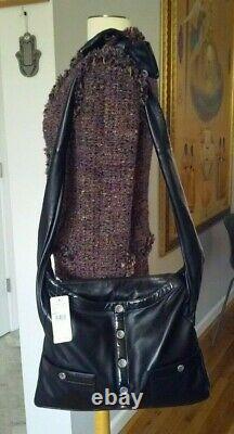 Chanel $4800 2015 Nwt Girl Jacket Bag Limited Edition Black Lambskin Crossbody