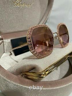 Chopard Limited Edition RED CARPET SCHF06S 8FC rose gold Sunglasses $2750