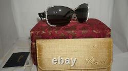 Chopard Sunglasses Palladium Black Limited Edition Crystal Shield SCH A65S 0579