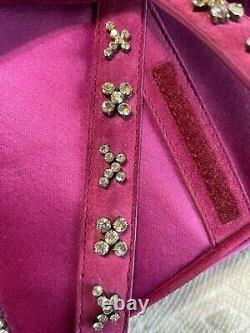 Christian Dior Satin Fuchsia Satin Jeweled Limited Edition Saddle Bag-$6250