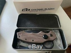 Colonel Blade Folding Knife FDE Serialized Limited Edition