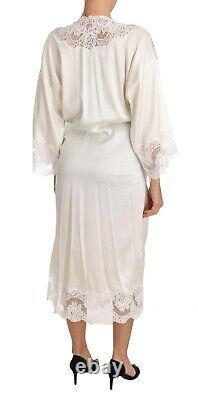 DOLCE & GABBANA SPECIAL EDITION Robe White Silk Sleepwear Kimono s. S RRP $2000