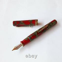 Delta Pompei 1996 DC Limited Edition Fountain Pen 18k Gold Medium Nib Ink Bottle