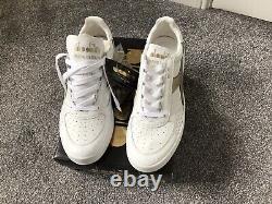 Diadora Borg Elite Limited Edition Mens 12.5 Gold/White Kangaroo Leather BNIB