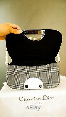 Dior Checkered Pattern Pearl Malice Shoulder Bag Limited Edition