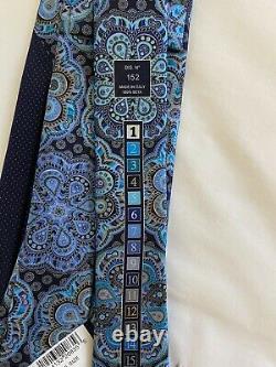 ERMENEGILDO ZEGNA Limited Edition QUINDICI black MEDALLION silk Tie NWT Auth