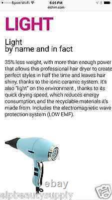 Elchim 3900 Light Ionic New Imperial Jade Edition Dryer 35% Lighter 2200w