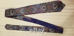 Ermenegildo Zegna Quindici Limited Edition Purple & Multi-color Paisley Tie NEW