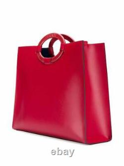 Fendi Red Runaway Perforated Logo Tote Bag LIMITED EDITION! $2890