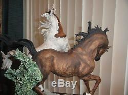 GIUSEPPE ARMANI STALLIONS Limited Edition Figurine Horse Statue # 0572S