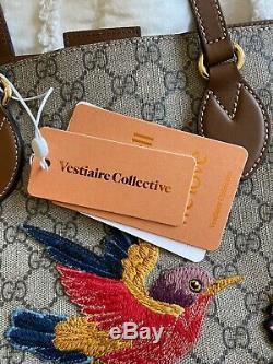 GUCCI Limited Edition GG Supreme Tote Bag Bird Motif Rare NWT