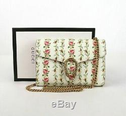 Gucci Dionysus Limited Edition Off White Leather Floral Chain Bag 401231 2067
