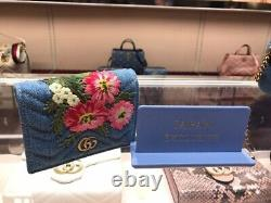 Gucci Japan Exclusive Wallet Denim Card Case Limited Edition Made In Italy