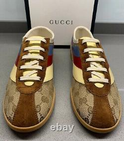 Gucci Ltd Edition GG Sneaker Beige Brown Size 8 UK Brand New Box Made In Italy