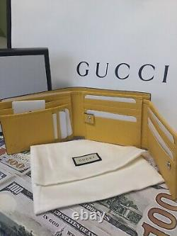 Gucci Mens Wallet Yellow And Black With ID Window Brand New-limited Edition