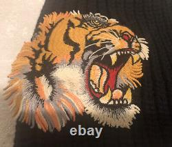 Gucci Midnight Blue Tiger Appliqué Wool Beanie Hat Size M Limited Edition