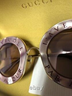 Gucci Women L'aveugle Par Amour Sunglasses- Rare Purple edition