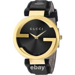 Gucci YA133312 Interlocking-G Grammy Special Edition Unisex Black Leather Watch