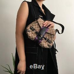 Gucci horsebit tom ford limited edition leather monogram satin stripe canvas bag