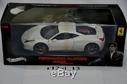 Hot Wheels Elite 118 Ferrari 458 Italia Fernando Alonso Edition V7426