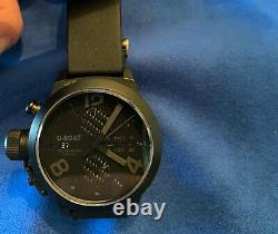 Limited Blackout Edition Uboat Classico Cab 4/45 w extra new leather strap