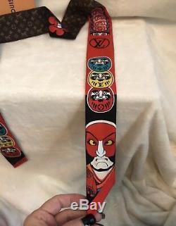 Limited Edition LOUIS VUITTON KABUKI Monogram Silk Scarf Bandeau Red