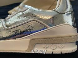Limited Edition Louis Vuitton Metallic Silver Trainer Virgil Abloh Size 11