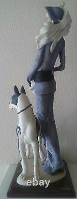 Limited Edition. My Fair Lady with Great Dane by Giuseppe Armani, Made in Italy