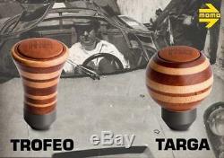 MOMO Heritage Targa Mahogany Leather / Wood Shift Knob Special Edition