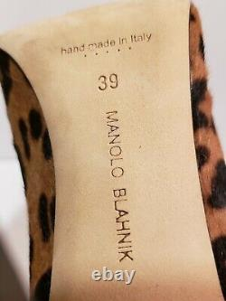 Manolo Blahnik 39 US 9 Leopard Animal Print 105mm pumps (Tiger King edition!)