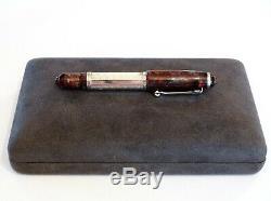 Marlen 21 Masterpiece Edition Fountain Pen In Burgundy & Silver 18k M Gold Nib