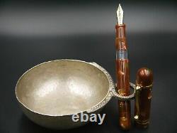 Molteni Limited Edition CILICIA BRICK 17 of 20 Celluloid Fountain Pen 18K Nib B