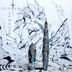 Montegrappa Game of Thrones Limited Edition Winter is Here Dragon Fountain Pen