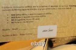 Montegrappa Limited Edition 001 Cosmopolitan Bohemian Paris Silver Fountain Pen